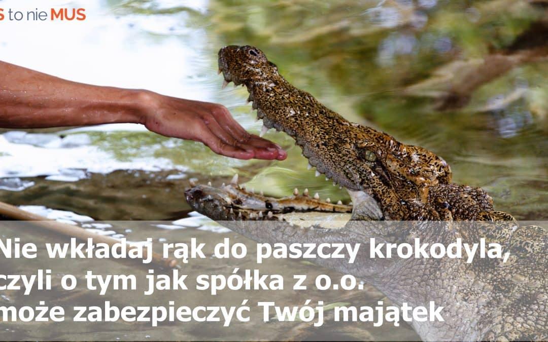 Nie wkładaj rąk do paszczy krokodyla, czyli o tym jak spółka może zabezpieczyć Twój majątek